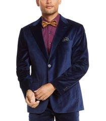 tallia men's slim-fit velvet suit jacket separate