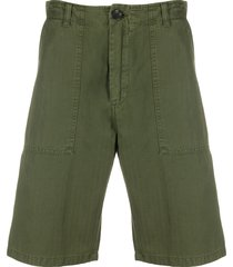 department 5 fatigue distressed effect shorts - green