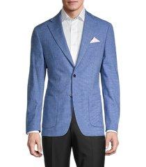 tallia men's regular-fit elbow-patch blazer - blue - size 44 l