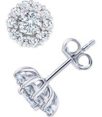 marchesa certified diamond stud earrings (2 ct. t.w.) in 18k white gold
