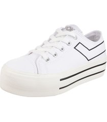 zapatilla blanca pony platform clasic ox canvas c.