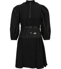 prada re-nylon belted dress