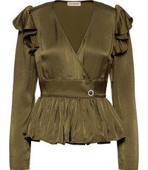 dristi blouse lange mouwen groen custommade