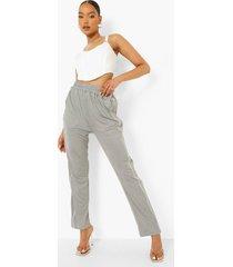 tricot broek met zakken en enkel detail, grey
