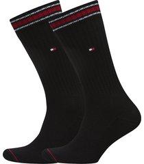 th men iconic sock sports 2p underwear socks regular socks svart tommy hilfiger