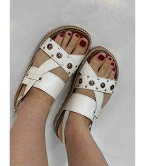 sandalia blanca via praga