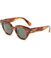 'wayfarer' tortoiseshell effect wide acetate frame sunglasses
