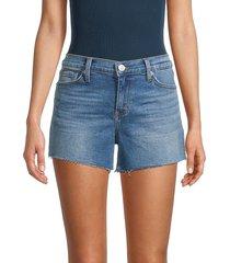 hudson women's gracie mid-rise cutoff denim shorts - madison - size 24 (0)