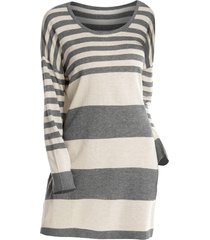plus size striped drop shoulder sweater dress