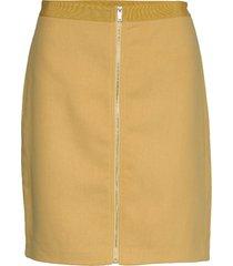 skirts woven knälång kjol gul esprit casual