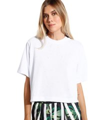 camiseta john john basic malha off white feminina (off white, gg)