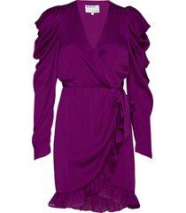 laura wrap dress kort klänning lila designers, remix