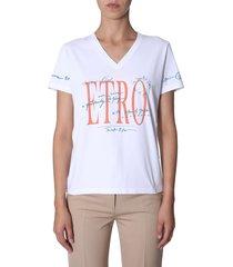 etro v-neck t-shirt