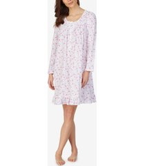 eileen west long sleeve knit cotton nightgown