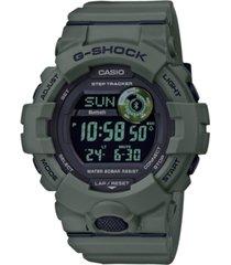 g-shock men's digital olive green resin strap watch 48.6mm