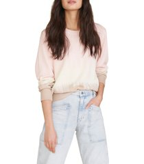 women's veronica beard nikasha tie dye cotton sweater, size small - pink