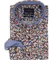 overhemd portofino printje fazant regular fit