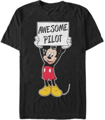 fifth sun men's mickey awesome pilot short sleeve t-shirt