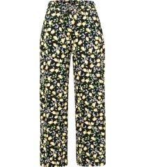 enkellange broek van 100% katoen met rijgkoord van green cotton multicolour