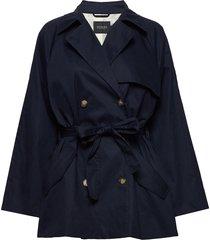 slchicago short trenchcoat trench coat rock blå soaked in luxury