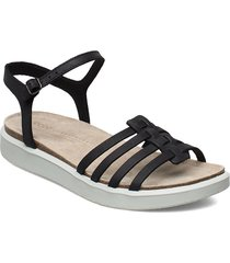 corksphere sandal shoes summer shoes flat sandals svart ecco