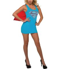 buyseason women's supergirl tank dress with removable cape