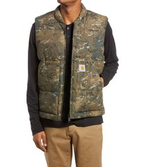men's carhartt work in progress brooke vest, size large - green