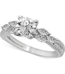 bliss monique lhuillier diamond engagement ring (1-5/8 ct. t.w.) in 14k white gold