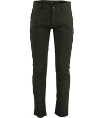 hugo boss chino slim fit donkergroen 50379152/346