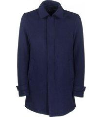 herno coat blue wool