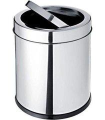 lixeira basculante 3,2 litros em aã§o inox – decorline – brinox - incolor - dafiti