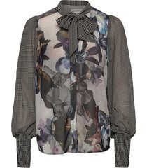 quinn blouse lange mouwen multi/patroon six ames