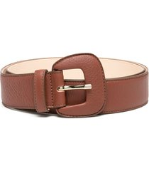 agl chewy leather belt - red