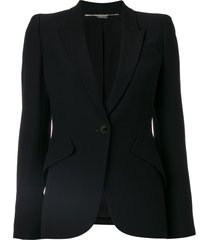 alexander mcqueen scooped tailored jacket - black