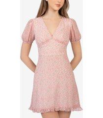 b darlin juniors' floral-print v-neck dress