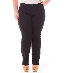 calça confidencial extra plus size jeans tradicional feminina