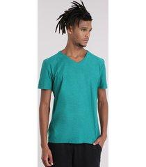 camiseta flamê básica verde