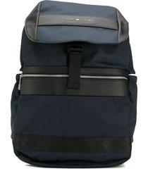 tommy hilfiger textile flap backpack - blue
