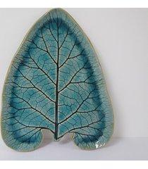 talerz ceramiczny liść łopianu