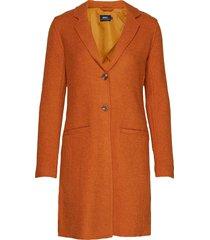 onlnew ella wool coat cc otw yllerock rock orange only