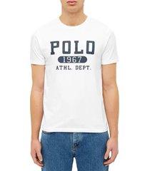 camiseta blanco-azul navy polo ralph lauren m classics ssl tsh
