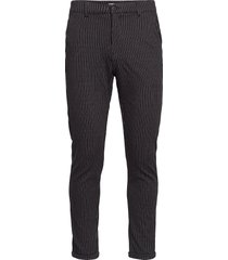 chino pants with elastic waist kostymbyxor formella byxor svart lindbergh
