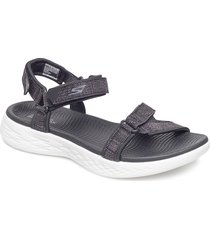womens on-the-go 600 shoes summer shoes flat sandals svart skechers