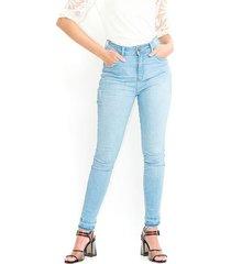 jeans color azul, 5 bolsillos, tiro medio color-azul-talla-8