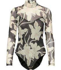 jardin elia bodysuit t-shirts & tops bodies svart allsaints