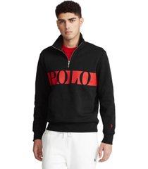 polo ralph lauren men's double-knit graphic pullover