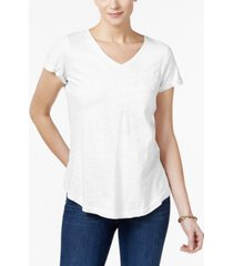 style & co petite cotton t-shirt, created for macy's