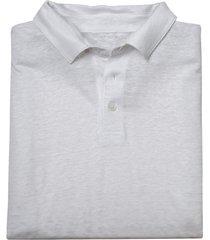poloshirt met korte mouw van puur bio-linnen, wit xxl