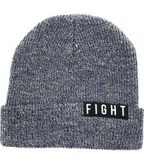 gorro de lana azul acero fight for your right