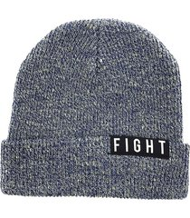 gorro de lana azul fight for your right beanis almendra